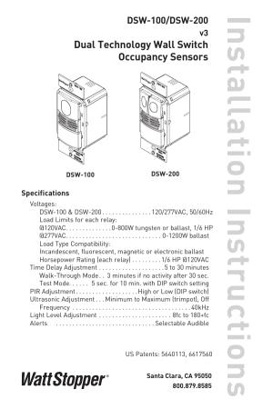 Wattstopper Occupancy Sensor Wiring Diagram  Somurich