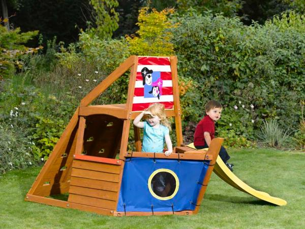 Captain Plum Pirate Ship Wooden Play Centre Toys