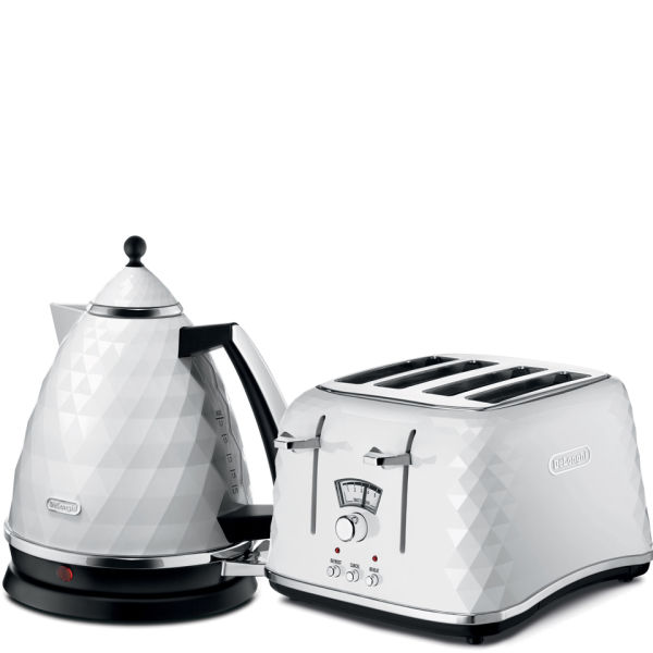 DeLonghi Brilliante 4 Slice Toaster And Kettle Bundle