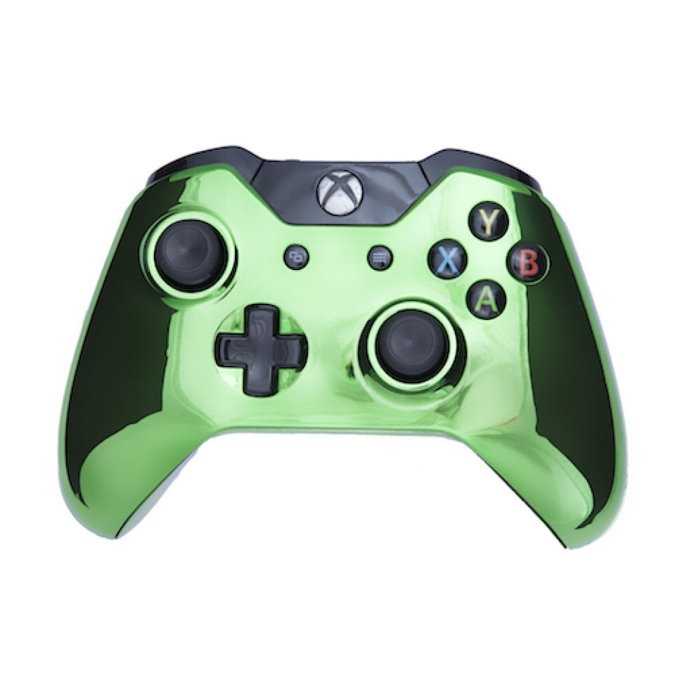 Xbox One Wireless Custom Controller Chrome Green Games