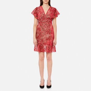 Guess Women's Margharette Dress - Fire Leopard