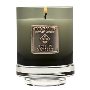 Stoneglow Metallique Collection Bois Et Vanille Candle
