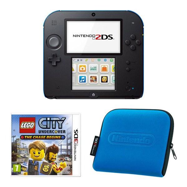 Nintendo 2DS Black Amp Blue Console Bundle Includes LEGO