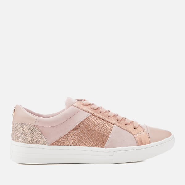 Dune Women's Egypt Leather Cupsole Trainers - Pink Metallic