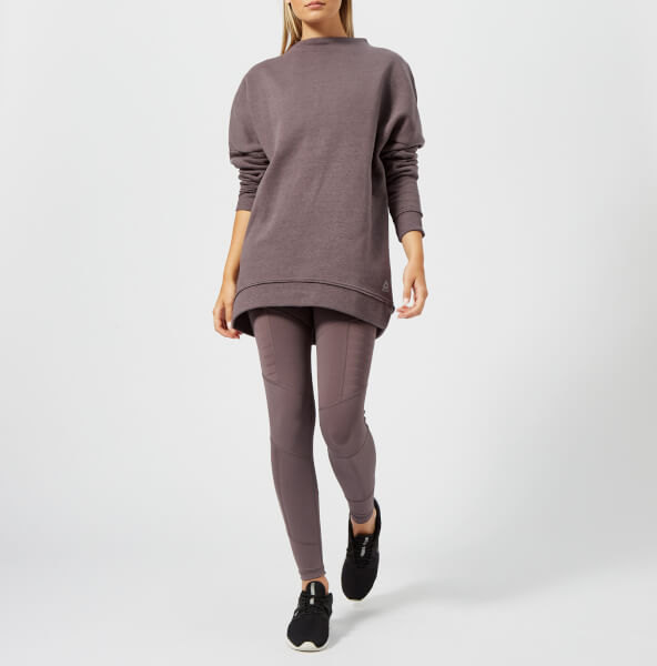 Reebok Women's Marble Crew Neck Sweatshirt - Almost Grey