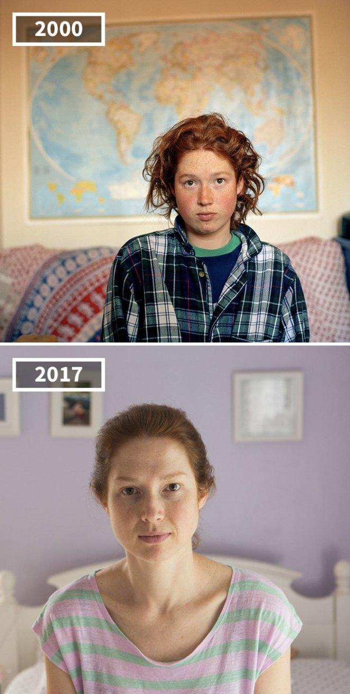 Фотограф сняла друзей в 2000 и в 2017, чтобы показать, что 17 лет делают с человеком