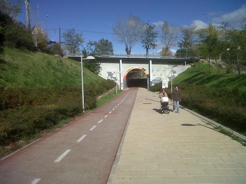 Wikiloc | Foto de ferroBTT - Túnel bajo A-2 en Via Verde de la Gasolina