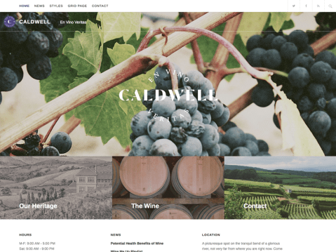Caldwell is a straightforward, no-frills WordPress theme for the discerning small business. Highlight what makes your company unique with large featured images and front page featured content blocks.