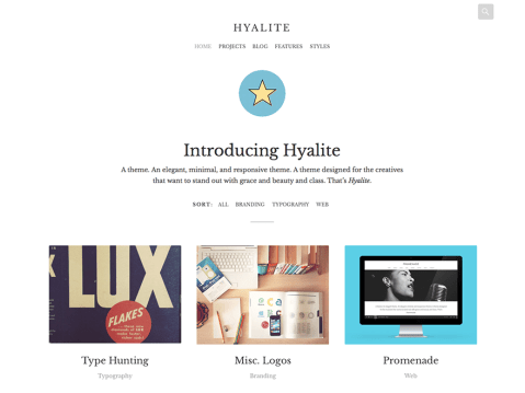 Hyalite is a minimalistic, micro-blogging WordPress theme with a focus on typography and the ability to display a portfolio.