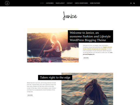 Janice is an elegant, clean and modern WordPress theme built specifically for bloggers who love fashion, lifestyle and generally are cool people. Designed for WordPress.com.