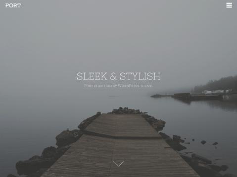 A sleek and stylish agency theme