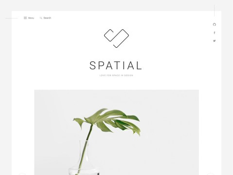 A theme for blogs and portfolios with a minimalist touch