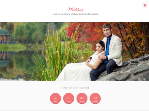 Wedding is an elegant WordPress theme to build a beautiful wedding website easily. Let share your wedding photos, galleries, videos and memorable moments with family & friends by using the wedding WordPress theme.