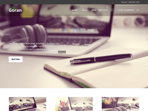 Goran is a functional and responsive multi-purpose theme that is the perfect solution for your business's online presence.