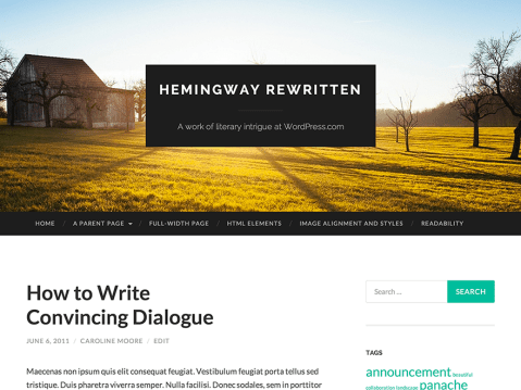 Hemingway Rewritten is a classic blog theme with a parallax-scrolling header effect and a minimal, elegant design. The large featured header images make this theme great for photographers, or any users who want to share their visuals in a bold way.