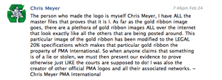 Truth About PMA Gold Ribbon