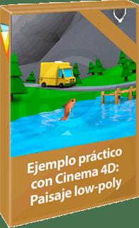 Video2Brain: Curso Ejemplo práctico con Cinema 4D: Paisaje low-poly (2017)