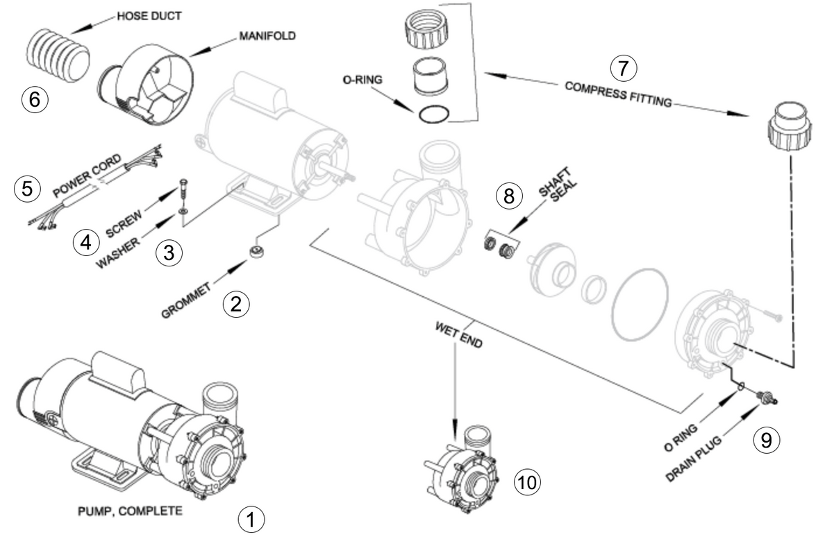 Jacuzzi Hot Tub Jets Parts