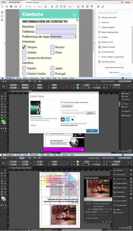 Video2Brain: Curso InDesign CC 2017 avanzado: Documentos interactivos (2017)