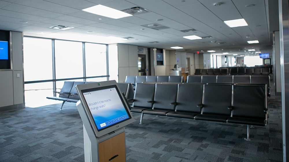 Customers will enjoy refreshed ticket counters and gate areas, new moving walkways, elevators and escalators