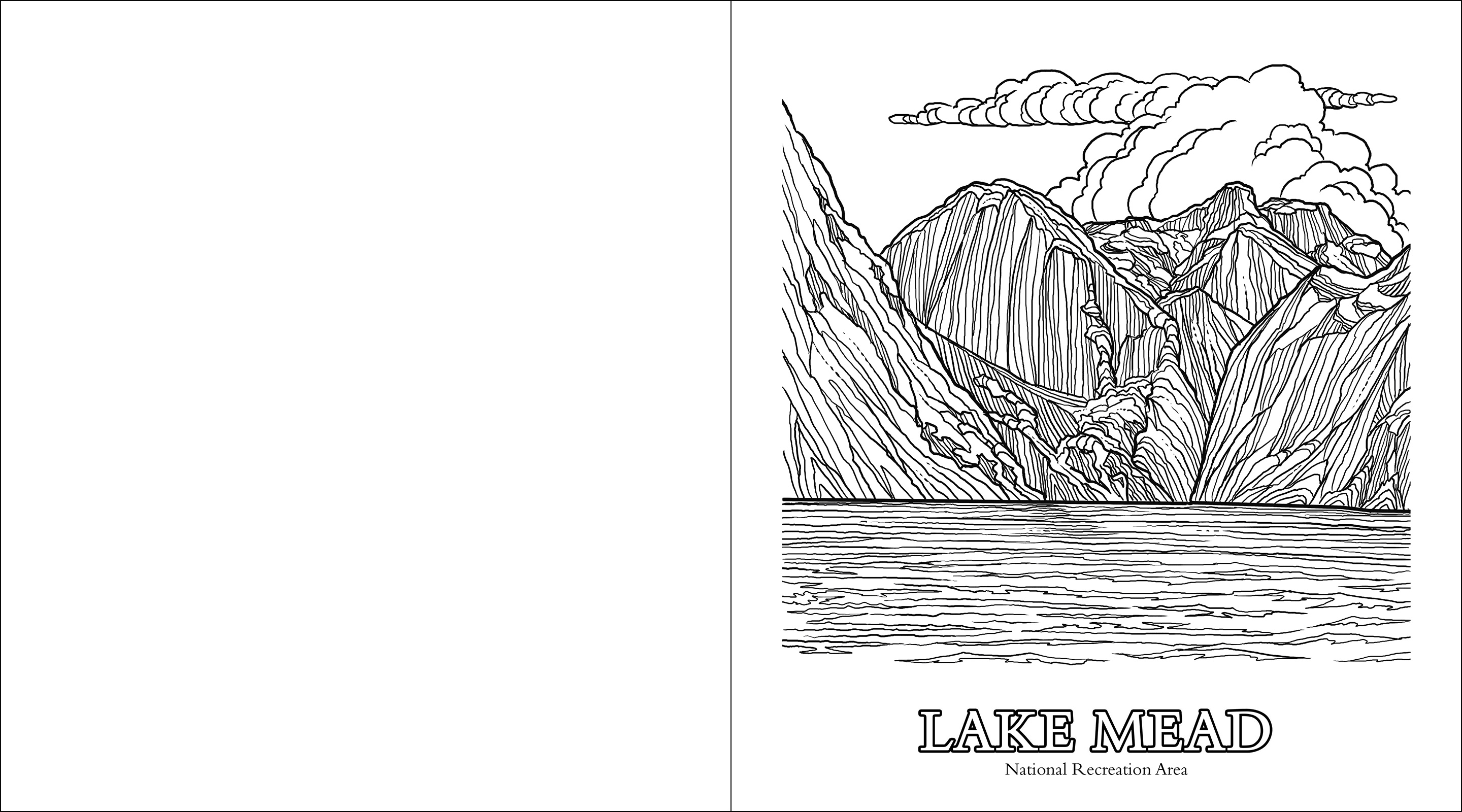 The Parks Of The Southwest Adult Coloring Book