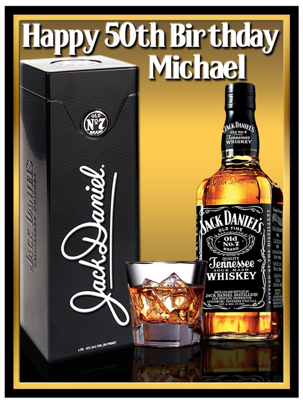 jack daniels whiskey edible icing image