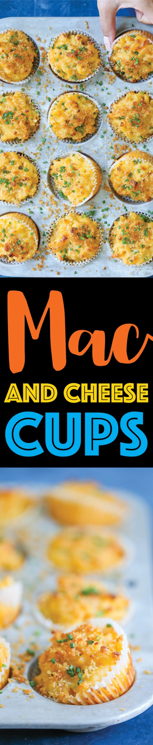 Mac and Cheese Cups- Macaroni and cheese baked to perfection in muffin tins! Great for holidays and lunch boxes – it's portable and makes for easy serving!