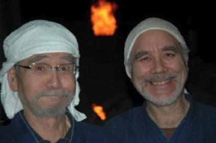 Joe Bruhin and Shiho Kanzaki in Shigaraki, Japan.