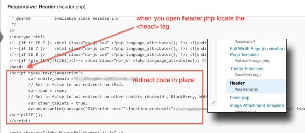 How to Add Mobile Redirect Code to Your Wordpress Site ...