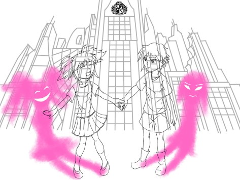 despair sisters drawing process