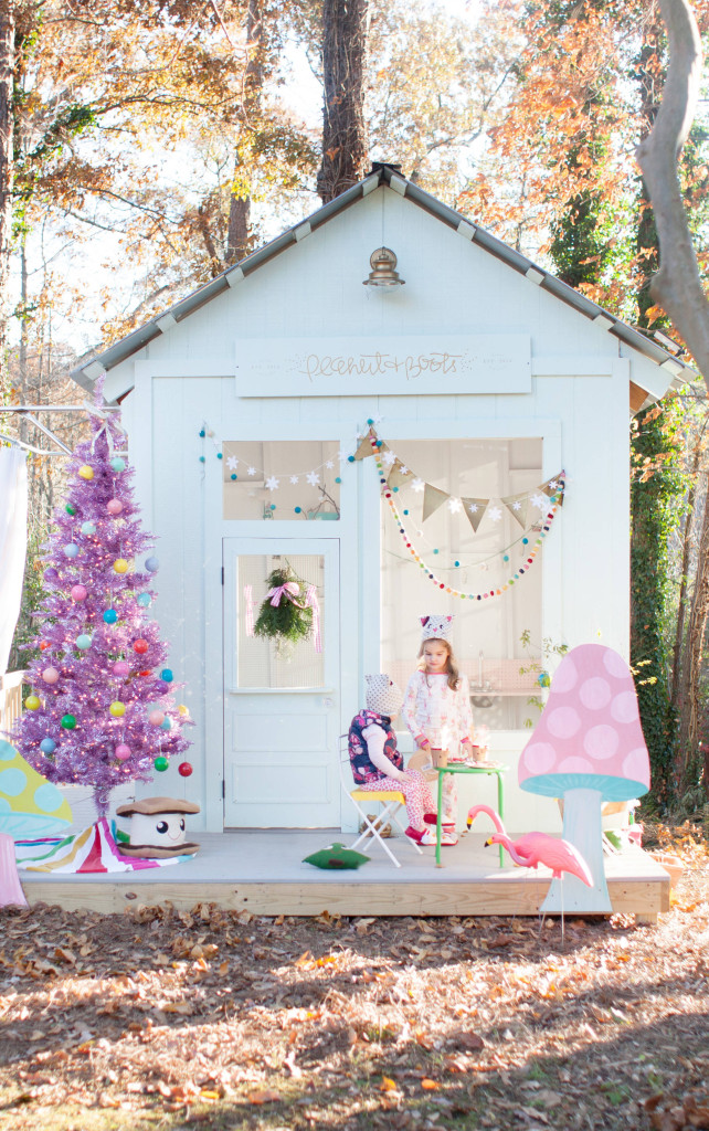 A Playhouse Decorated for Christmas 19