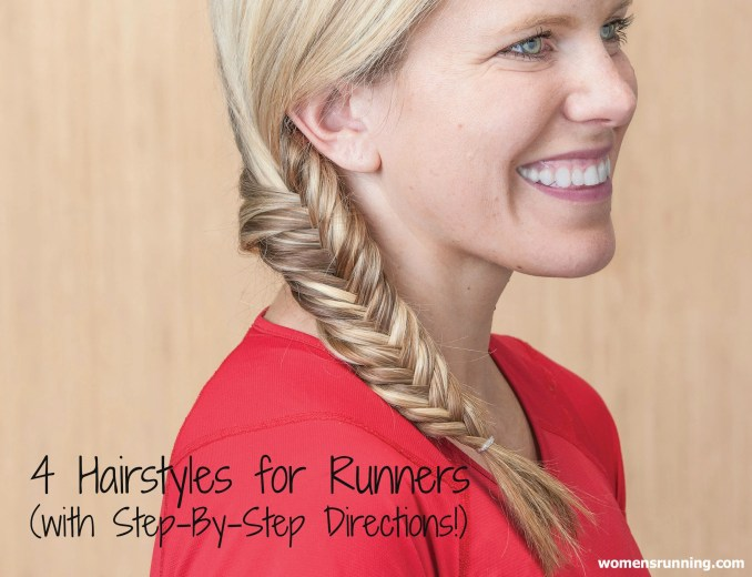 4 hairstyles for runners (with step-by-step directions