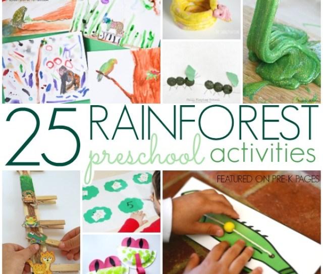 Rainforest Activities For Preschoolers Pre K Pages