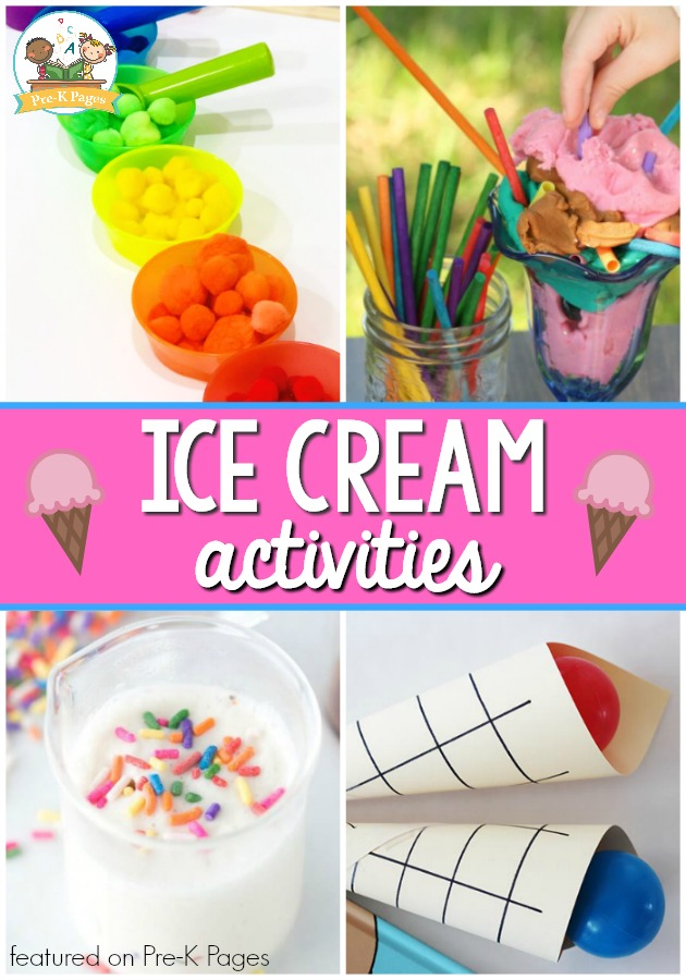 Ice Cream Theme Activities For Preschool Pre K Pages