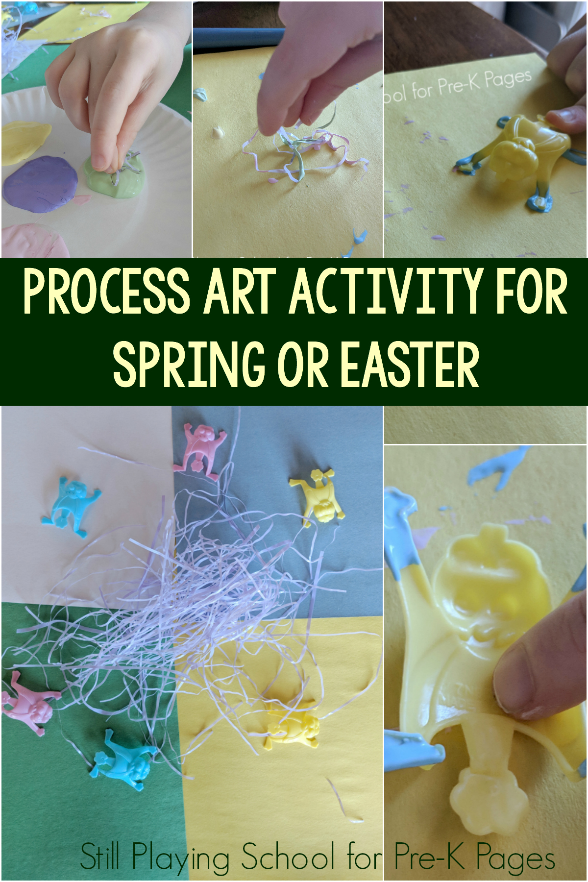 Process Art Painting Activity For Spring Or Easter