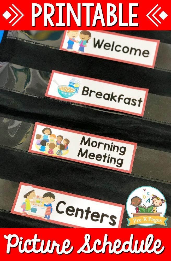 24/01/2017· free printable visual schedule for preschool. Preschool Daily Agenda Visual Schedule