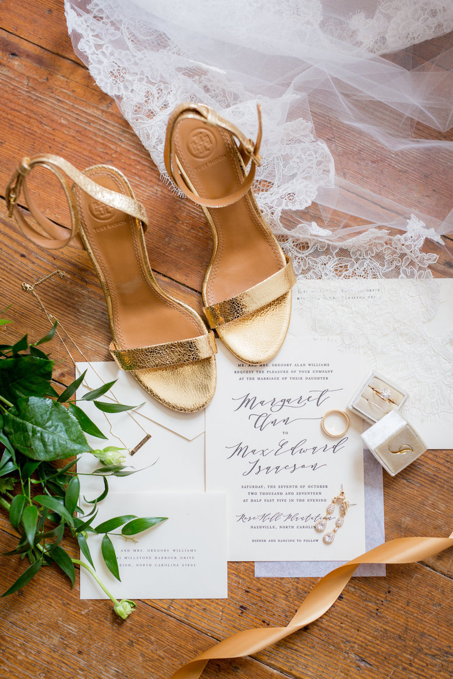 Classic Black-Tie Wedding with Gold and White Details