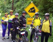 Group at the top of the big hill on Camano Island