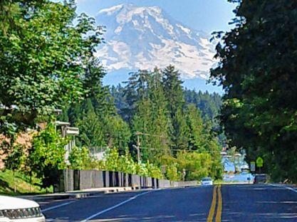 Mt Rainier Lake Tapps