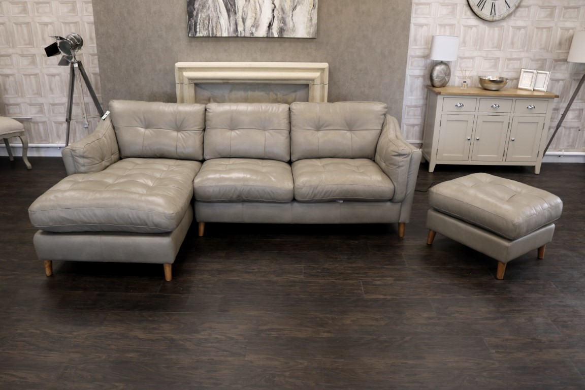 new alexander james saddler famous british brand grand premium tote storm leather sofa chaise foot stool