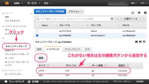 HTTPインバウンドルールを追加