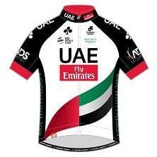 半袖ジャージ/UAE team Emirates UCIプロチーム2017モデル(Race Cut) 前面
