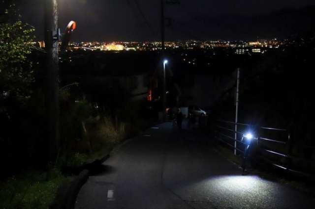 夜は夜で、いつもの道も自転車で走ると非日常感が溢れます。ライトは明るいものをおすすめします!
