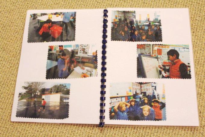 「ほうかごEnglish」の生徒さんがニュージーランドに来てくれました。現地の小学校に2週間かよって、最後には先生がこんなアルバムも作ってくれました。