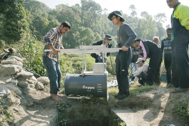 ネパールでの実証試験=茨城製作所提供