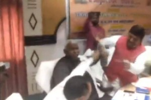 fight in bjp mla and mp