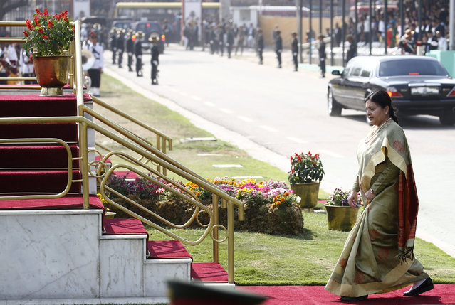 President Bidya Devi Bhandari sat on an ordinance on the federal upper house for two months. Credit: Reuters