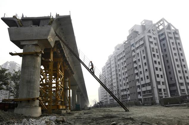 GDP is now estimated to grow an annual 6.5% in 2017/18, slower than a provisional 7.1% growth in 2016/17. Credit: PTI/File photo