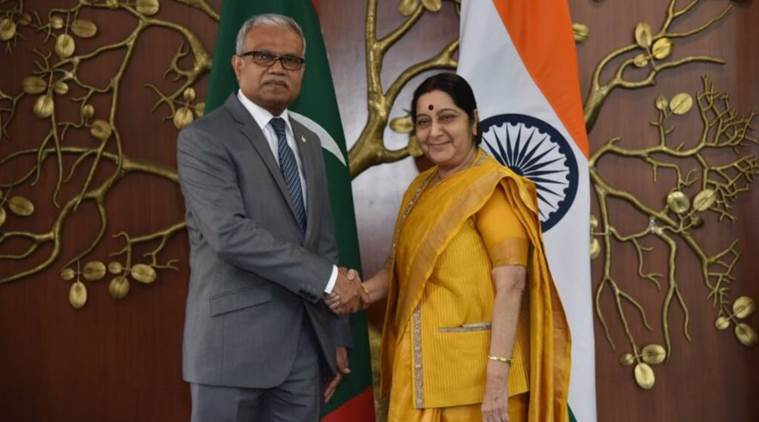 Maldives' foreign minister assures Narendra Modi of close ties with India