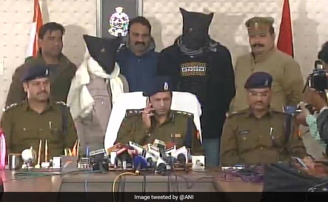 Police arrested two men linked to Samajwadi Party for dumping potatoes outside Yogi Adityanath's house. Credit: ANI